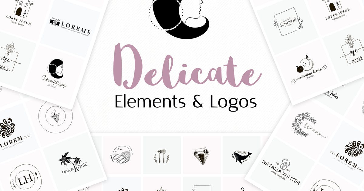 Download Delicate Logo Pack. Elements + Logos by switzergirl