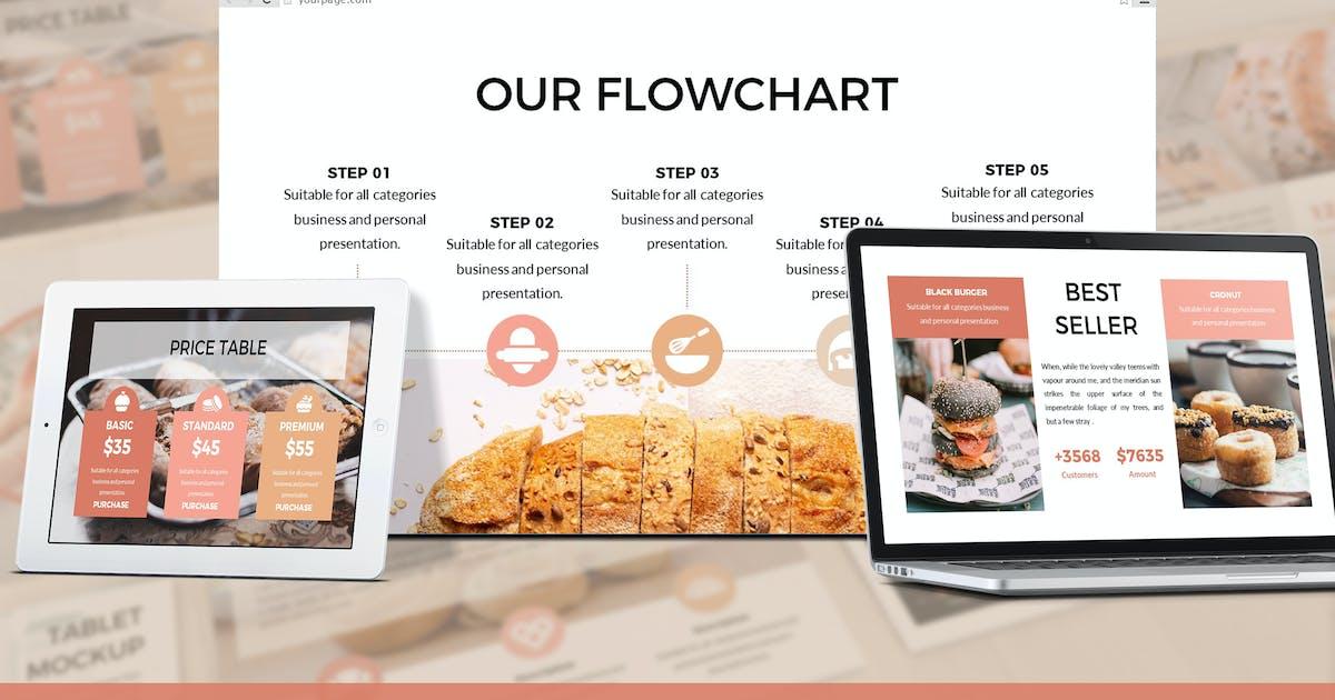 Foodlish - Food Google Slides Template by SlideFactory