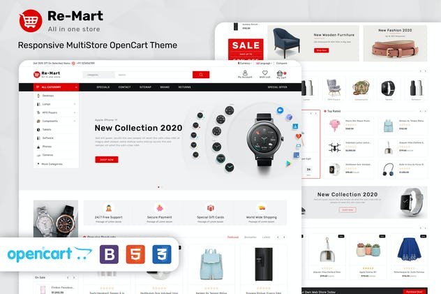Remart - Multipurpose MarketPlace Opencart 3 Theme