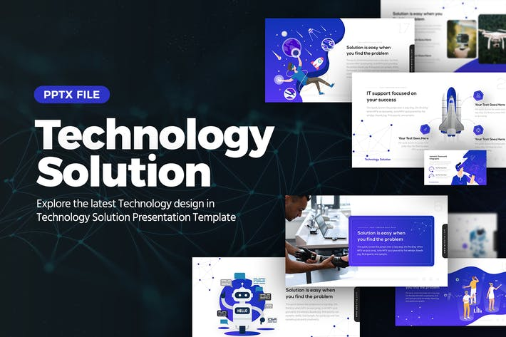 Technology Solution Powerpoint Template