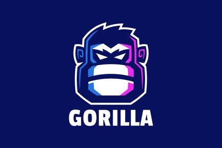 Angry Gorilla Head Logo Design