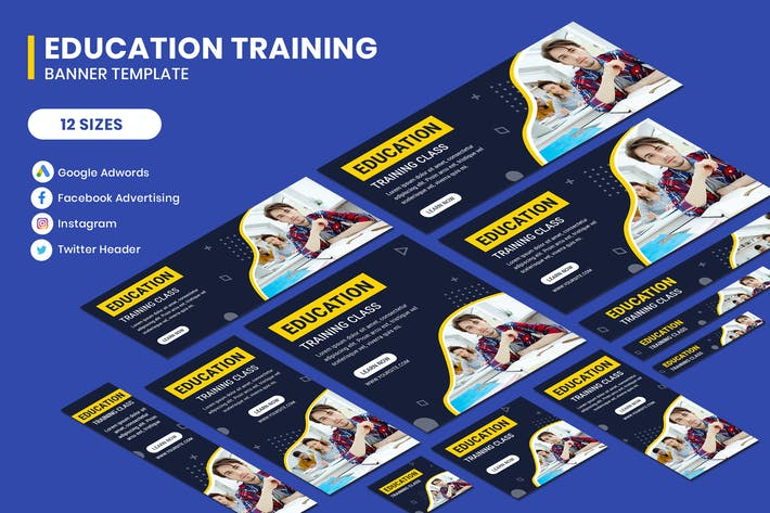 Thumbnail for Education Training Google Adwords Banner Template