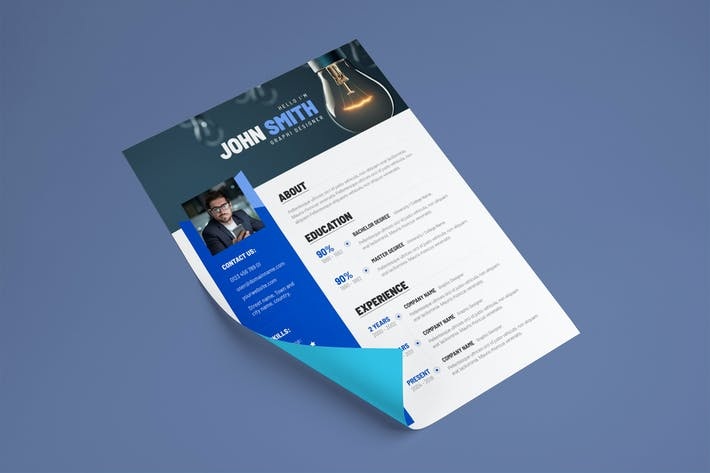 Thumbnail for Creative Resume & CV Template