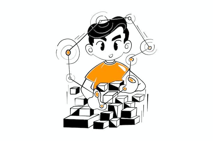 Thumbnail for Webentwickler, die Webseiten Illustration verlinken