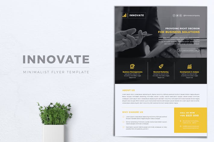 Thumbnail for INNOVATE Multipurpose Corporate Flyer