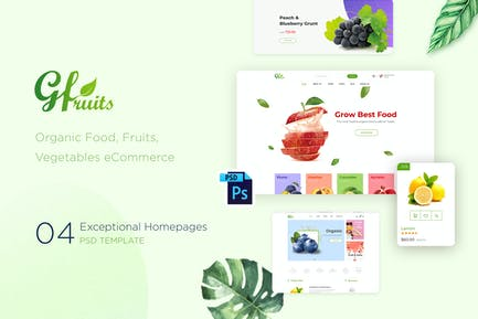 GFruits | Organic Food eCommerce PSD Template
