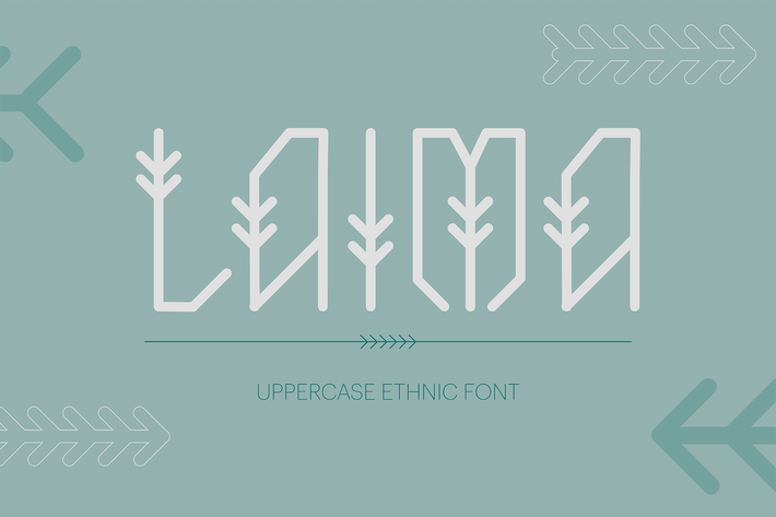 Thumbnail for Laima Uppercase Ethnic Font