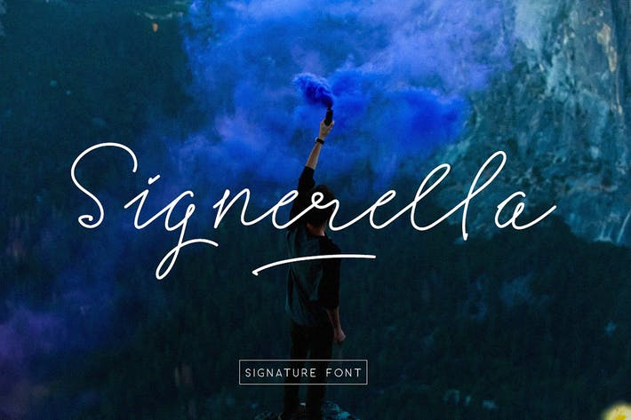 Thumbnail for Signerella Font Duo
