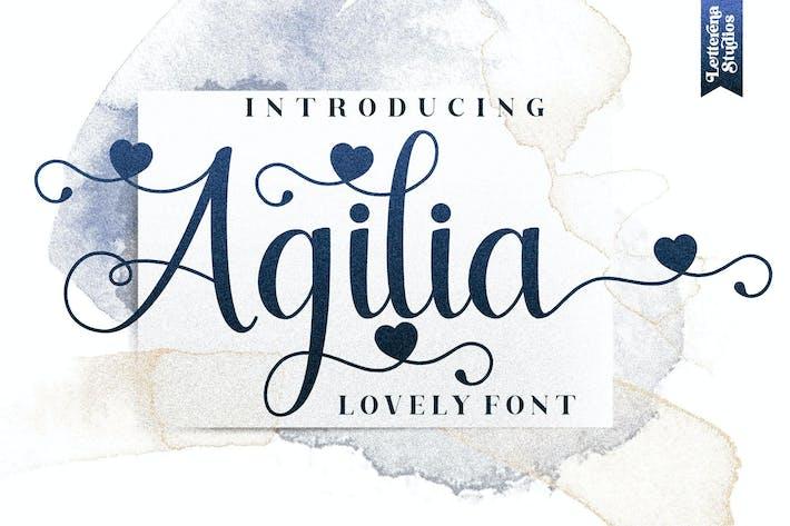 Agilia Script Font LS