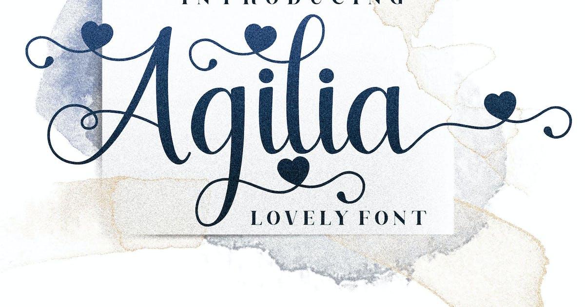 Download Agilia Script Font LS by GranzCreative