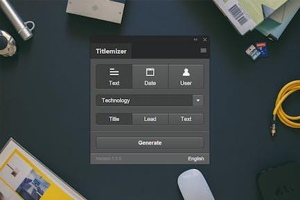 Расширения для Photoshop Титлемизатора