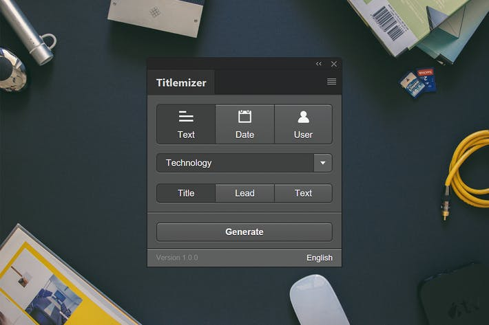Thumbnail for Titlemizer Photoshop Plugin