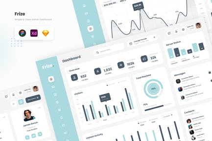 Frize - Simple and Professional Admin Dashboard