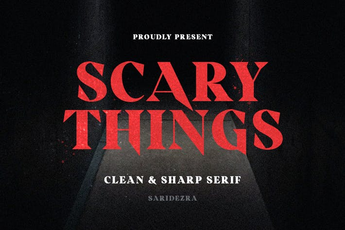 Thumbnail for Scary Things - Sharp & Creepy Serif