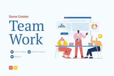 Teamarbeit-Szenen-Schöpfer