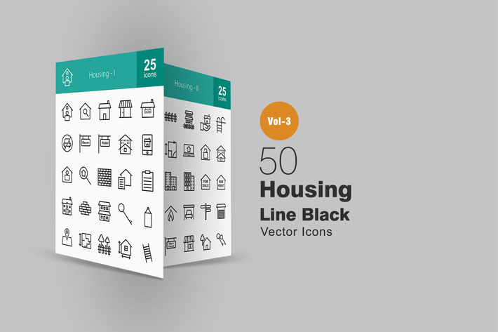 Thumbnail for 50 Housing Line Icons