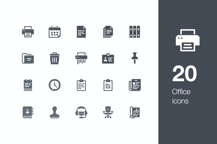 Thumbnail for 20 Office icons