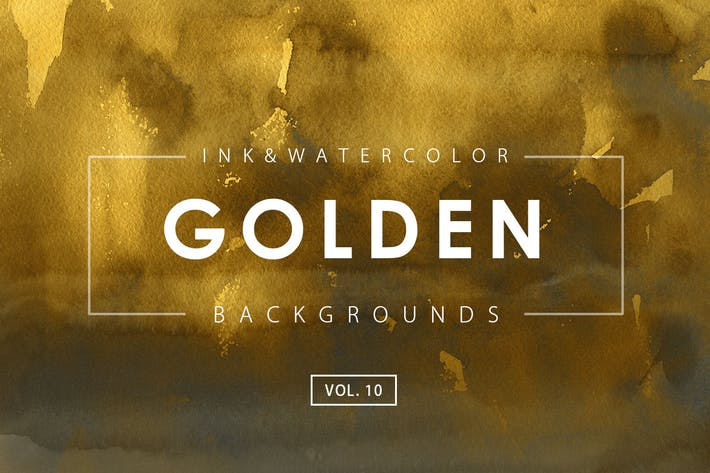 Thumbnail for Golden Ink Backgrounds 10