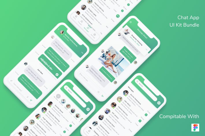 Thumbnail for Chat App UI Kit Bundle - Figma