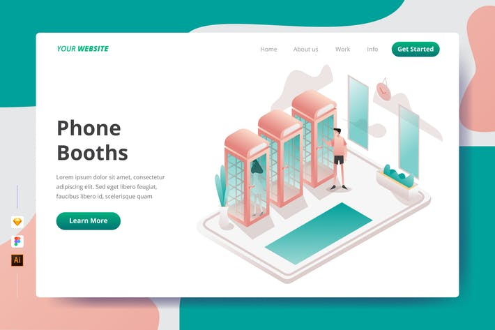Thumbnail for Phone Booths - Landing Page