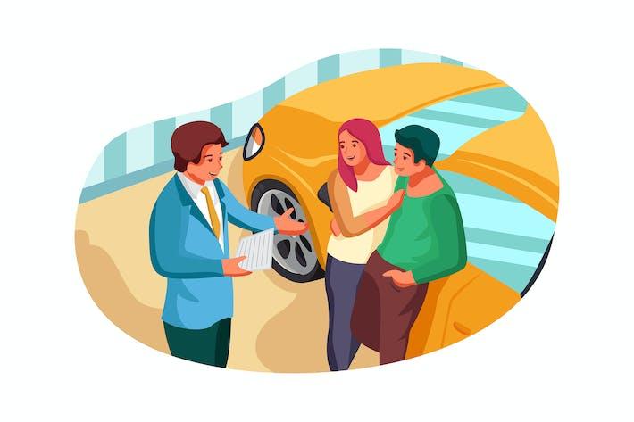 Thumbnail for Autohändler Illustrationskonzept