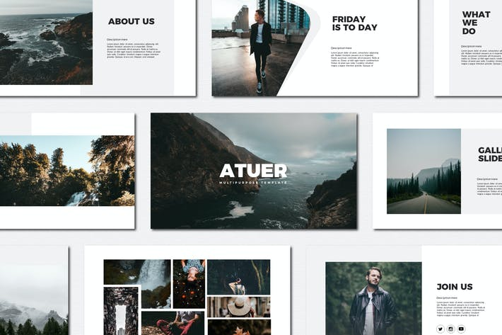 Thumbnail for Atuer - Powerpoint Templates