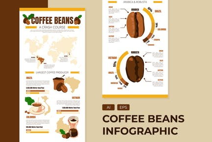 Coffee Beans - Infographic Template