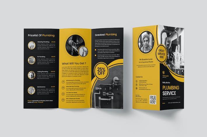 Klempner-Service Trifold Broschüre
