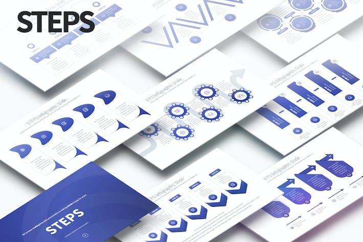 ШАГИ - Слайды Инфографика PowerPoint