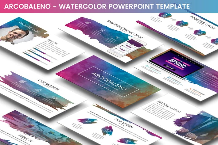 Thumbnail for Arcobaleno Powerpoint Template