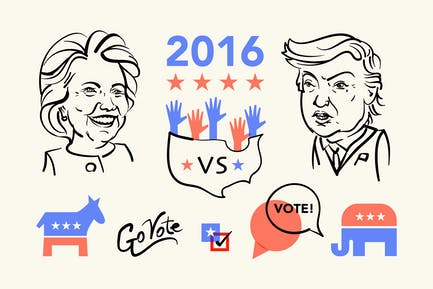 President Election 2016 Clipart