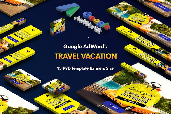 Thumbnail for Travel Vacation Banner Ad