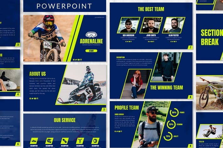 Thumbnail for Adrenaline - Sport Powerpoint Template