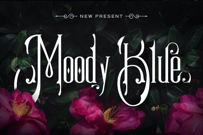 Thumbnail for Moody Blue Typeface