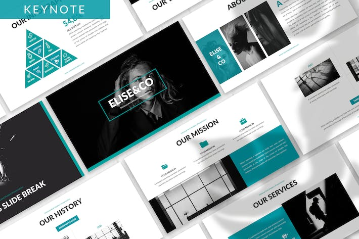 Thumbnail for Elise - Fashion Keynote Template