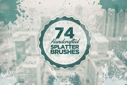 74 Handcrafted Splatter Brushes