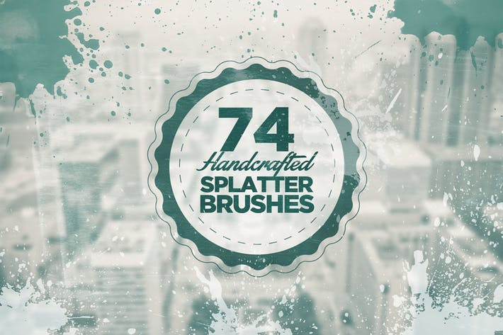Cover Image For 74 Handcrafted Splatter Brushes