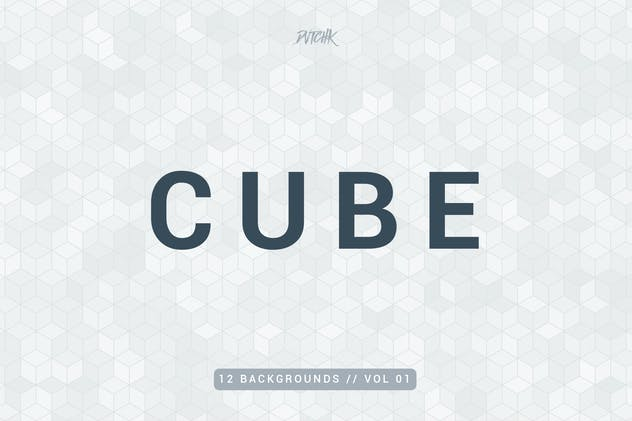 Cube | Colorful Mosaic Backgrounds | Vol. 01