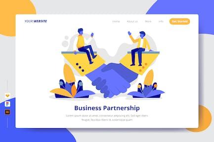 Business Partnership - Landing Page