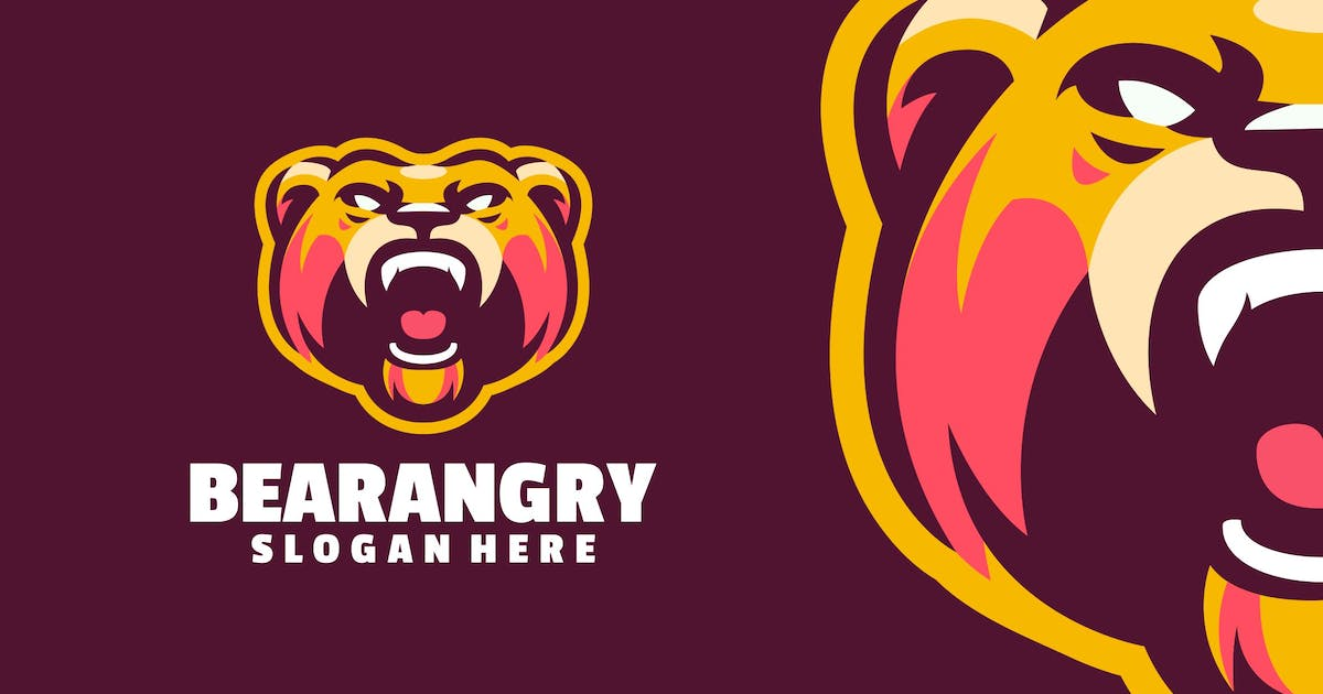 Download Bear angry logo template by Ary_Ngeblur