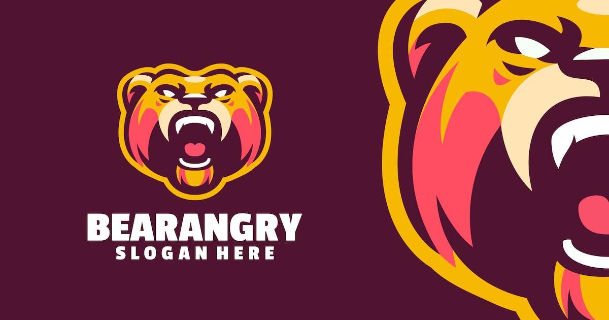 Bear angry logo template by Ary_Ngeblur