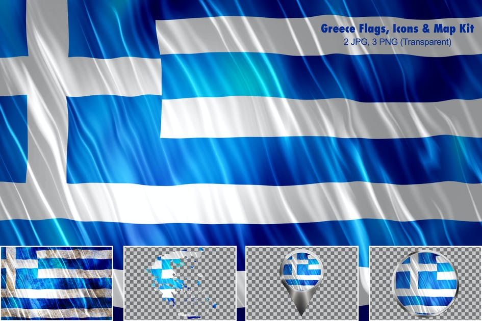 Download Greece Flags, Icons & Map Kit by StrokeVorkz