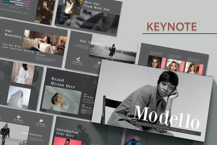 Thumbnail for MODELLO - Мода Шаблон ключевых заKeynote