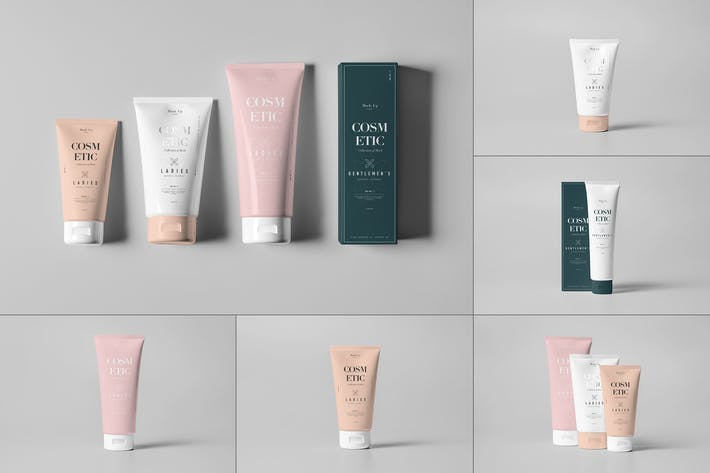 Thumbnail for Cosmetic Tube & Box Mock-up