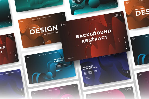 3D Abstract Background Minimal