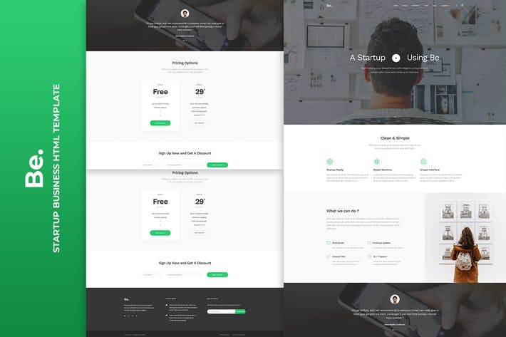 Thumbnail for Be - Startup Business HTML Template