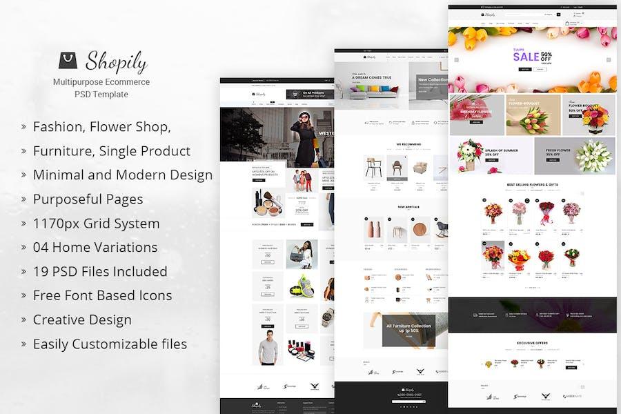 Shopily - Multi-Purpose E-Commerce PSD Template