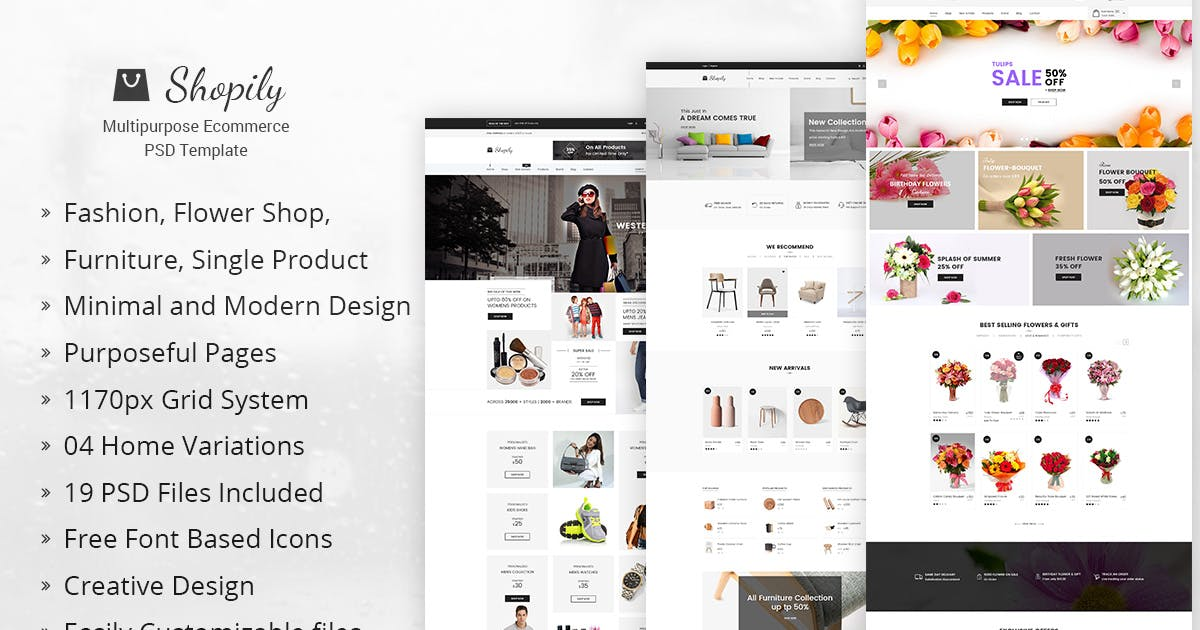 Download Shopily - Multi-Purpose E-Commerce PSD Template by DigitalHeaps