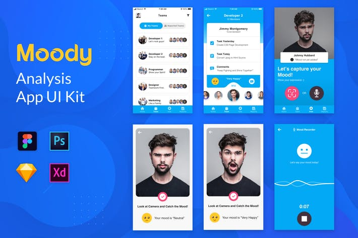 Thumbnail for Nuzie - Moody App Template