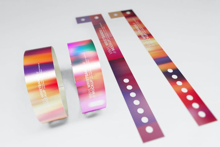 Thumbnail for Vinyl Wristbands Mockup